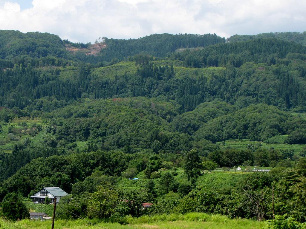山形山農場、静心荘は里山に抱かれている